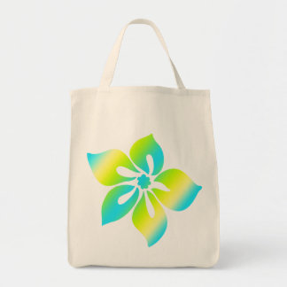 Happy Hibiscus Grocery Tote