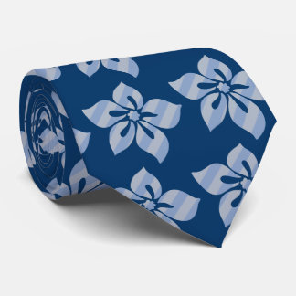 Happy Hibiscus Stripe Hawaiian Tie