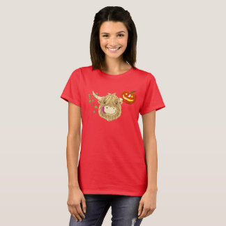 Happy Highland Cow Halloween T-Shirt