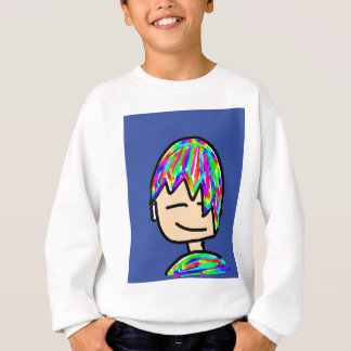 Happy Hippie boy cartoon Sweatshirt