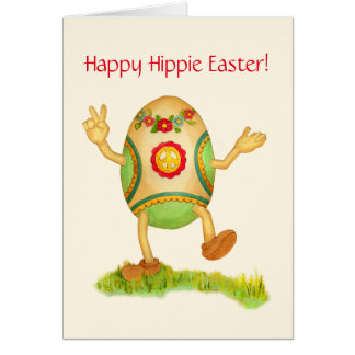 Happy Hippie Easter Card