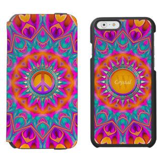 Happy Hippie Peace Monogram | Pink Purple Blue Incipio Watson™ iPhone 6 Wallet Case