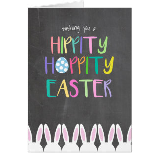 Happy Hippity Hoppity Easter Card