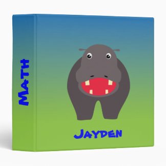 Happy hippo binder