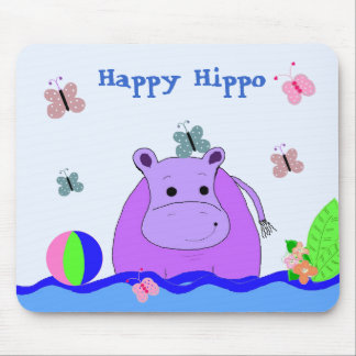 Happy Hippo Mouse Pad