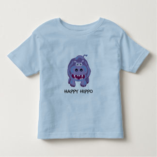 happy hippo toddler t-shirt