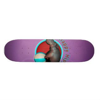 Happy Hippo Tumbler Custom Skate Board