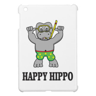 happy hippo water iPad mini cases