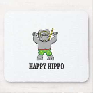 happy hippo water mouse pad