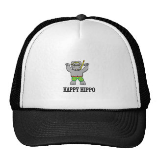 happy hippo water trucker hat