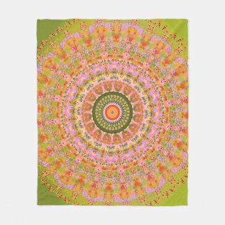 Happy Hippy Mandala Fleece Blanket