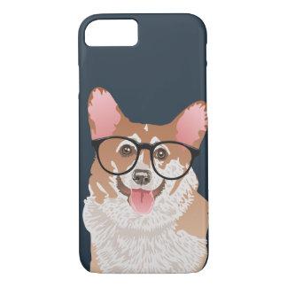Happy Hipster Pembroke Welsh Corgi iPhone 8/7 Case