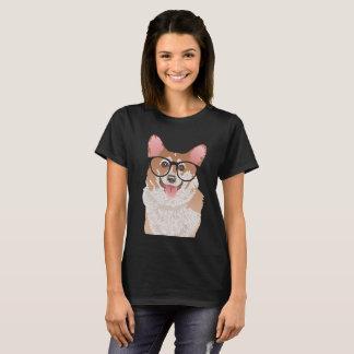Happy Hipster Pembroke Welsh Corgi T-Shirt