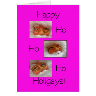 happy ho ho holigays gay x-mas card