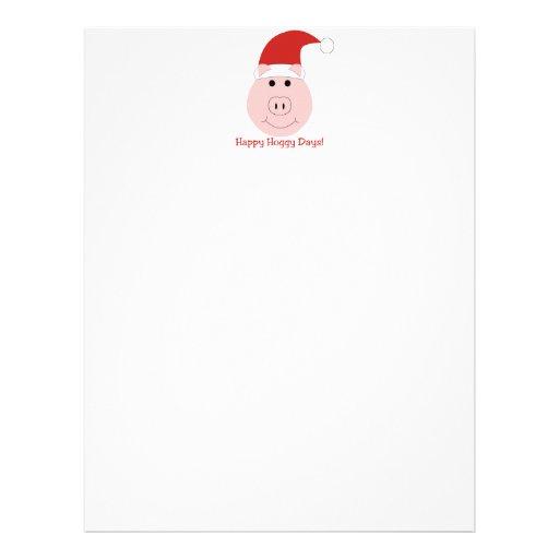 Happy Hoggy Days Christmas letterhead stationary