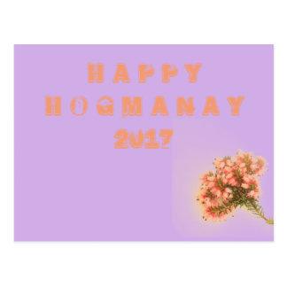 Happy Hogmanay 2017 Postcard