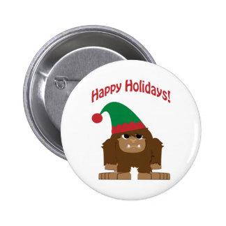 Happy Hokidays! Christmas Bigfoot 2 Inch Round Button