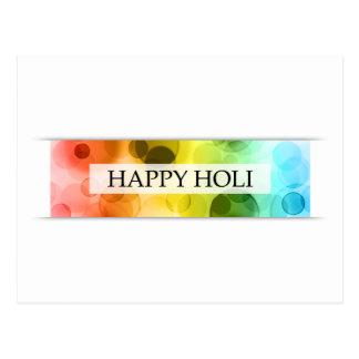 happy holi (bokeh) postcard