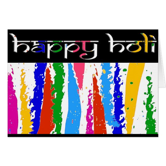 Happy Holi Greetings Card