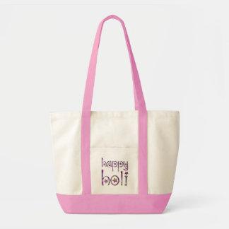 Happy Holi Hindu Spring Festival of Colors Pink Tote Bag