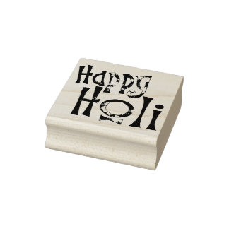 HAPPY HOLI! - Your best wishes for all people Rubber Stamp
