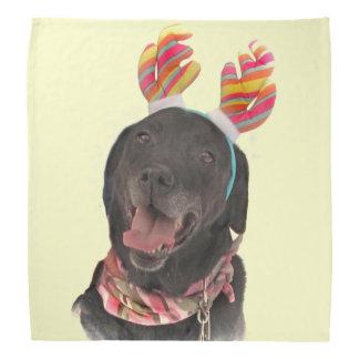 Happy Holiday Black Labrador Retriever Dog Bandana