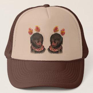 Happy Holiday Black Labrador Retriever Dogs Trucker Hat