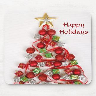 Happy Holiday Christmas Tree Mousepad