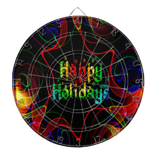 happy holiday dartboard