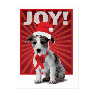 Happy Holiday Dog - Jack Russell Santa Postcard