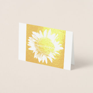 Happy Holiday edit the inside to personalize Foil Card