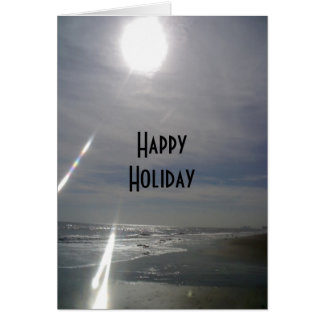 """""""HAPPY HOLIDAY"""" FROM THE BEACH CARD"""