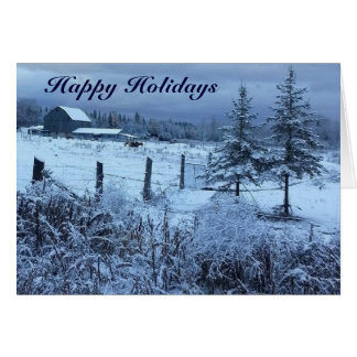 Happy Holiday Greetings Card