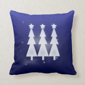 Happy Holiday Ice Christmas Trees Pillows
