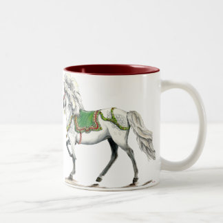 Happy Holiday Icelandic horse Two-Tone Coffee Mug