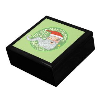Happy Holiday Merry Christmas New Year Santa Claus Keepsake Box