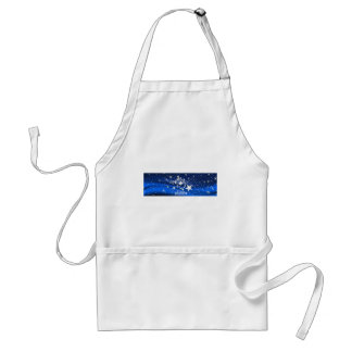 Happy holiday Merry Christmas stars blue Standard Apron