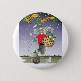 happy holiday soccer fans 2 inch round button
