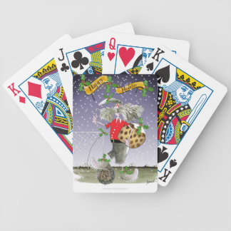 happy holiday soccer fans bicycle playing cards