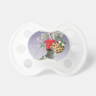 happy holiday soccer fans pacifier