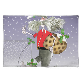 happy holiday soccer fans placemat