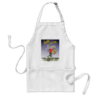 happy holiday soccer fans standard apron