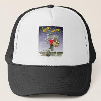 happy holiday soccer fans trucker hat