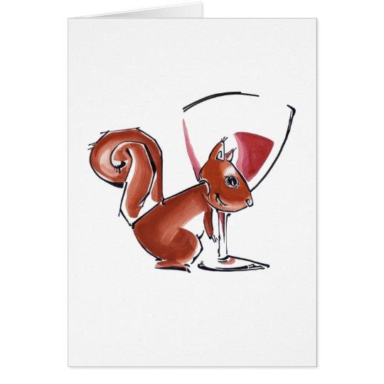 Happy Holiday Squirrel Card