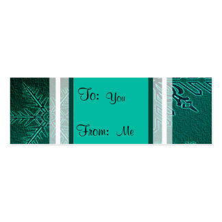 Happy Holiday Teal Snowflakes Business Card