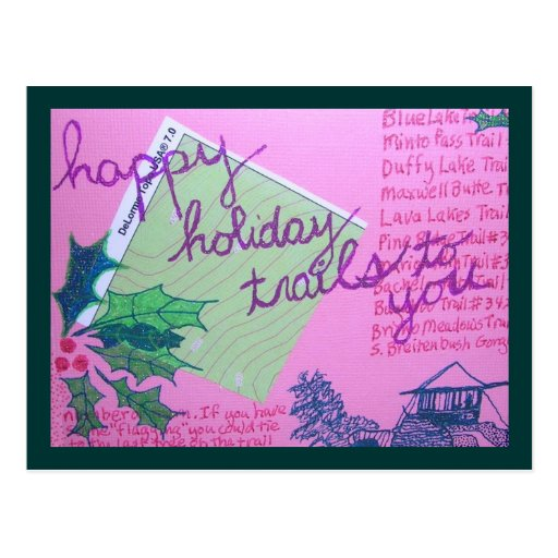 Happy Holiday Trails Post Card