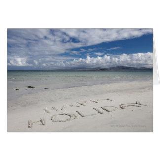 Happy Holiday Written On Eilogarry Beach Card