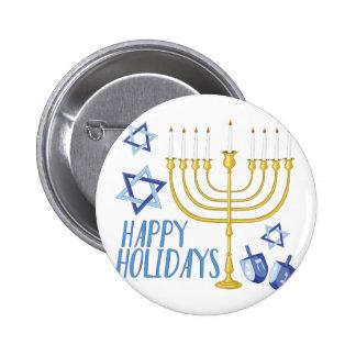 Happy Holidays 2 Inch Round Button