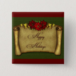 Happy Holidays 2 Inch Square Button