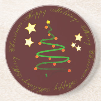 Happy Holidays and Merry Christmas Coaster